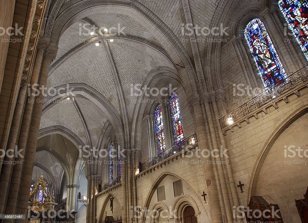 Saint-Maurice Cathedral, Angers in France stock photo