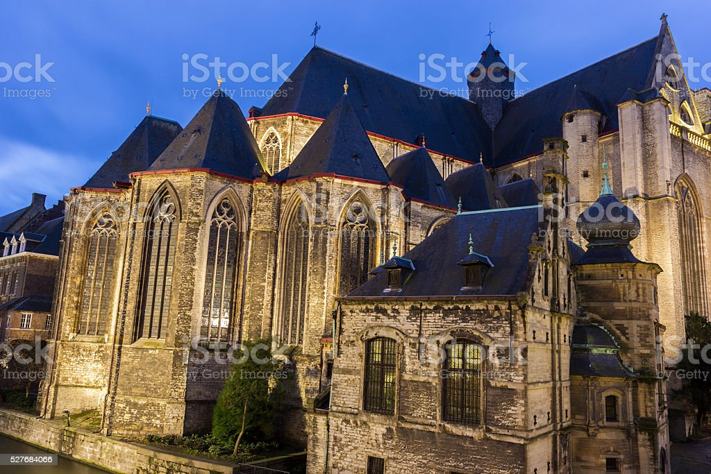 Saint-Michaels Church in Ghent in Belgium stock photo