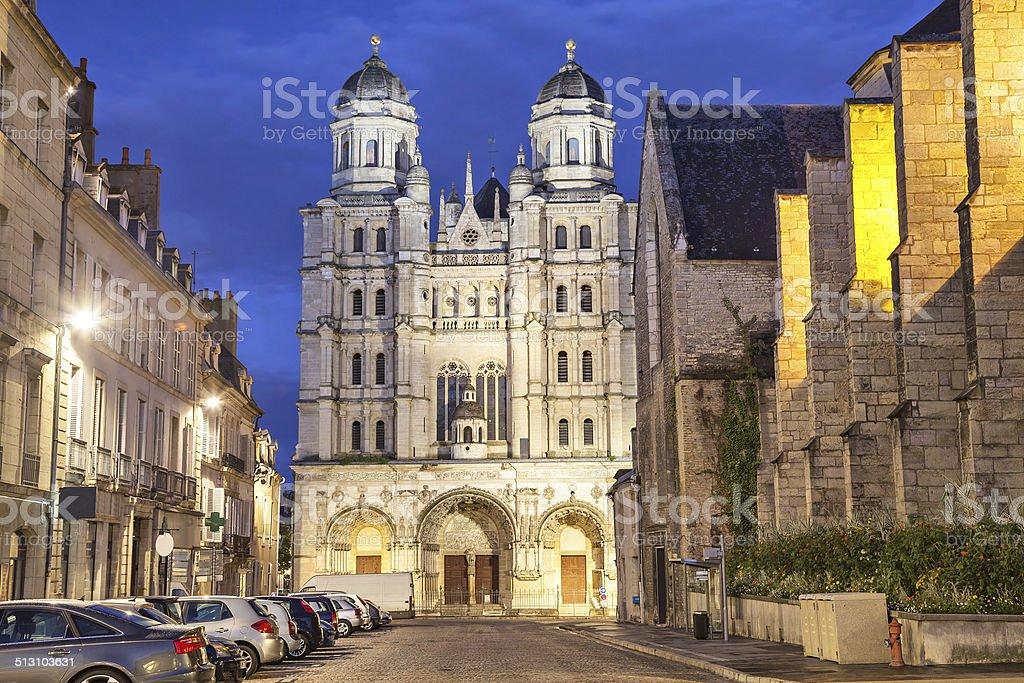 Saint-Michel church in Dijon stock photo