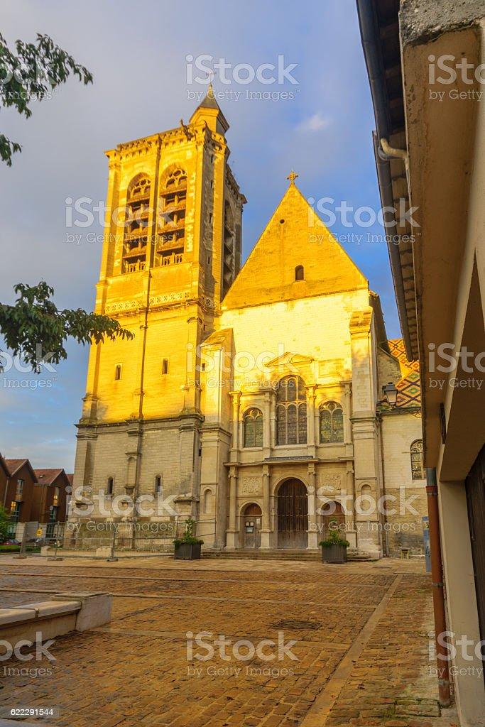 Saint-Nizier church, in Troyes stock photo