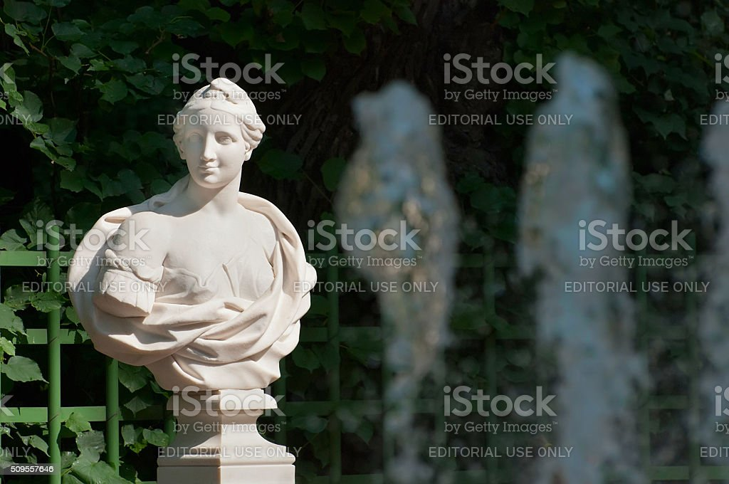 Saint-Petersburg. Russia. Bust of Corinna stock photo