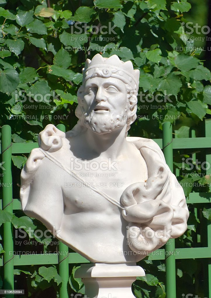 Saint-Petersburg. Russia. Bust of King Midas stock photo