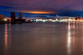 Saint-Petersburg, Russia illuminated night view