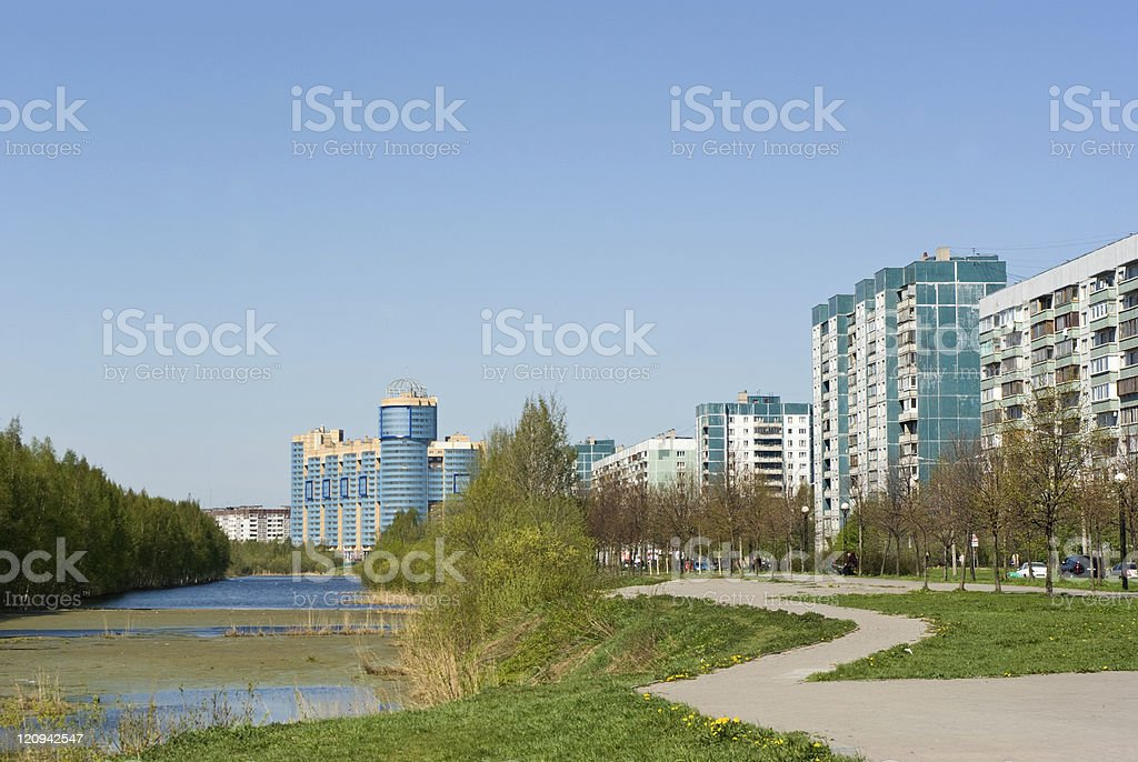 Saint-Petersbutg Outskirts royalty-free stock photo
