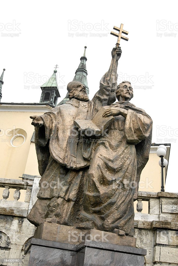 Saints Cyril and Methodius monument royalty-free stock photo