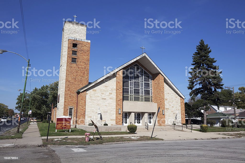 Saints Peter and Paul Catholic Church in West Pullman, Chicago stock photo