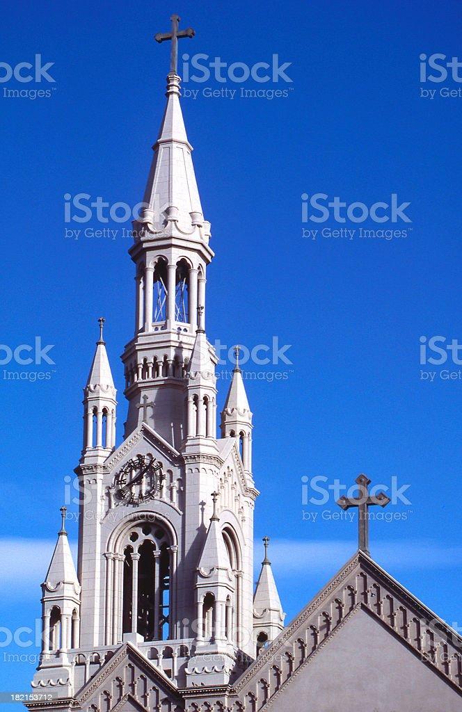 Saint's Peter & Paul Church Clock Tower royalty-free stock photo