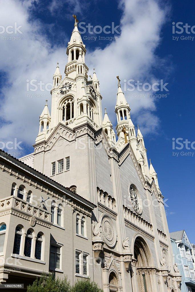 Saints Peter & Paul Church in San Francisco, California stock photo