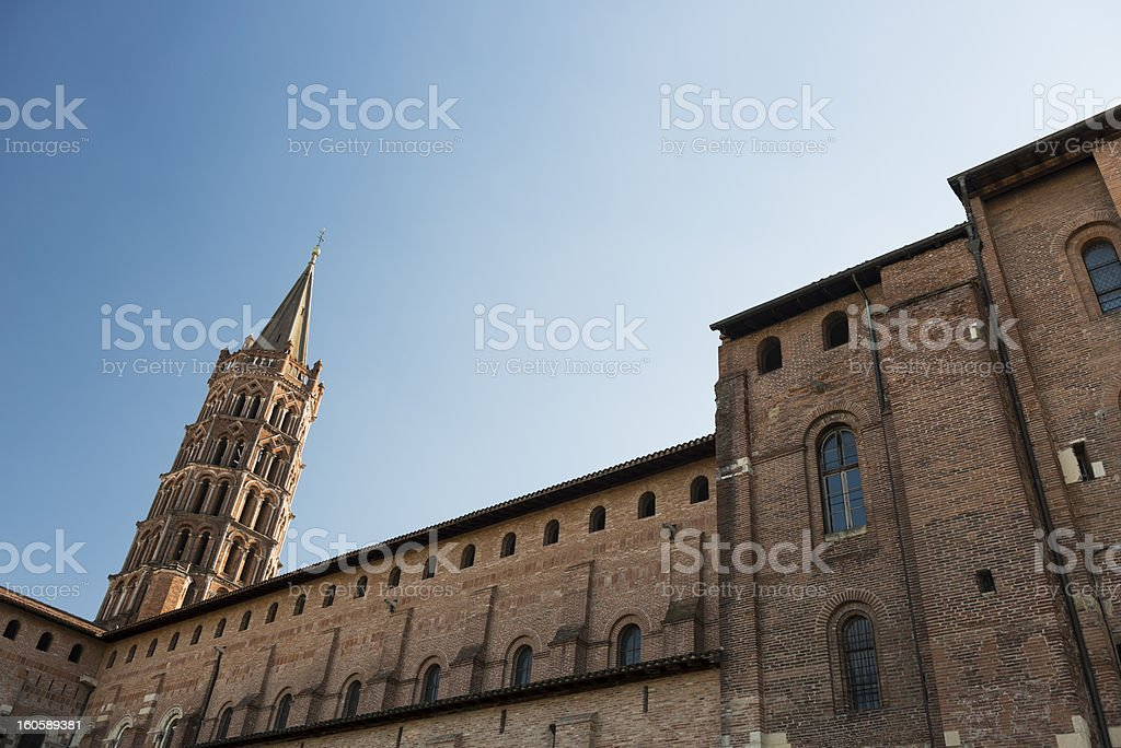 Saint-Sernin church, Toulouse stock photo