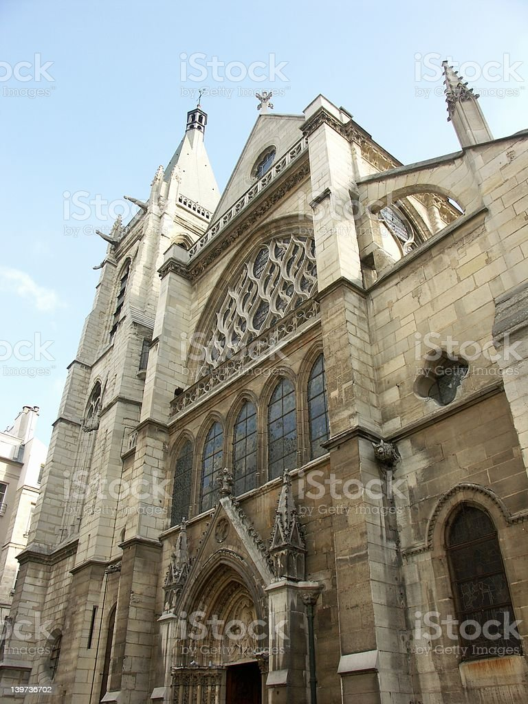 Saint-Severin church in Paris royalty-free stock photo