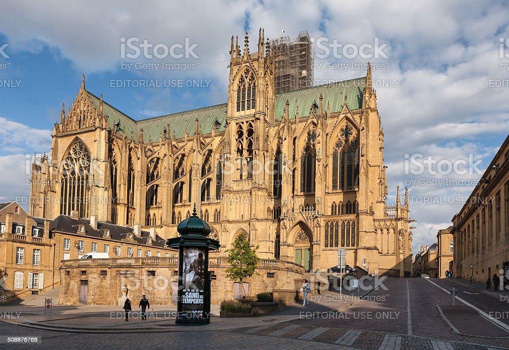 Saint-Étienne de Metz stock photo