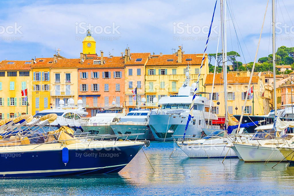 Saint-Tropez in France stock photo