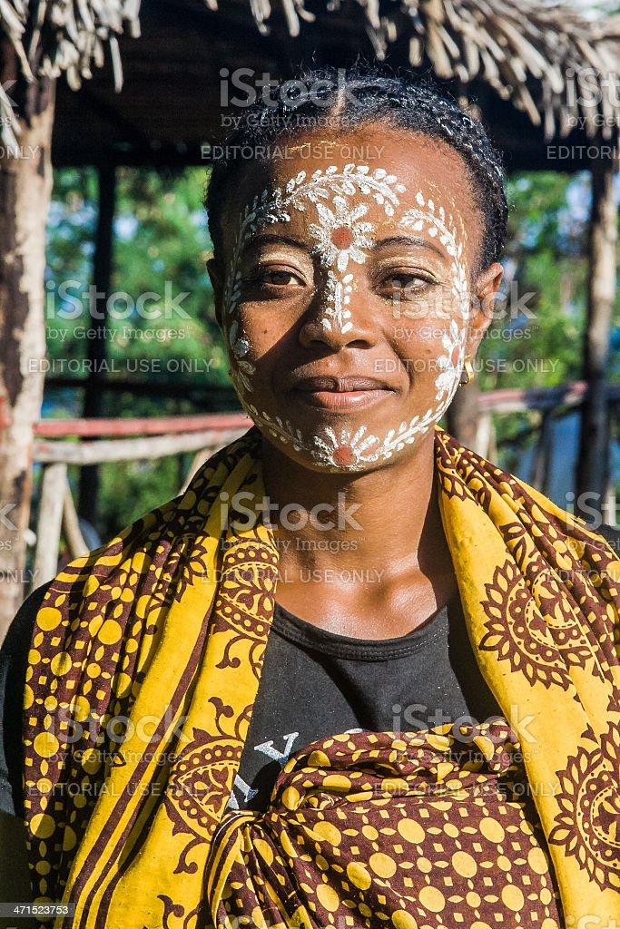 Sakalava paint mask stock photo