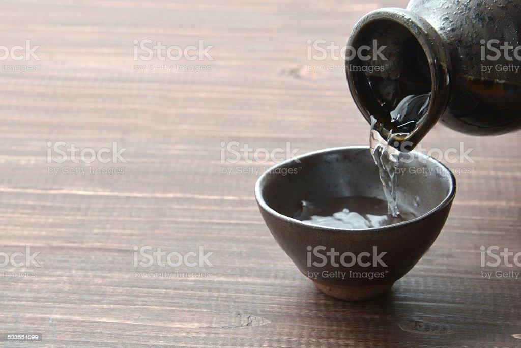 Sake, Japanese liquor stock photo