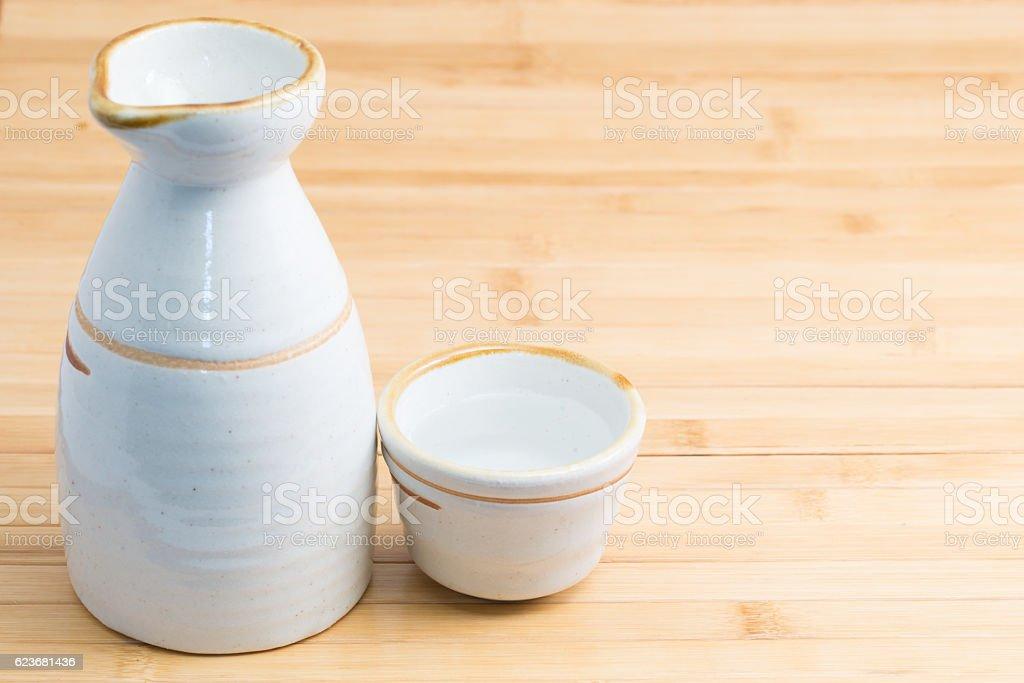 Sake stock photo