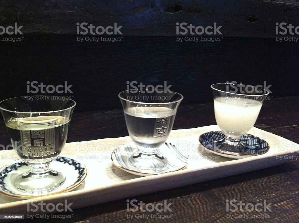 sake tasting stock photo