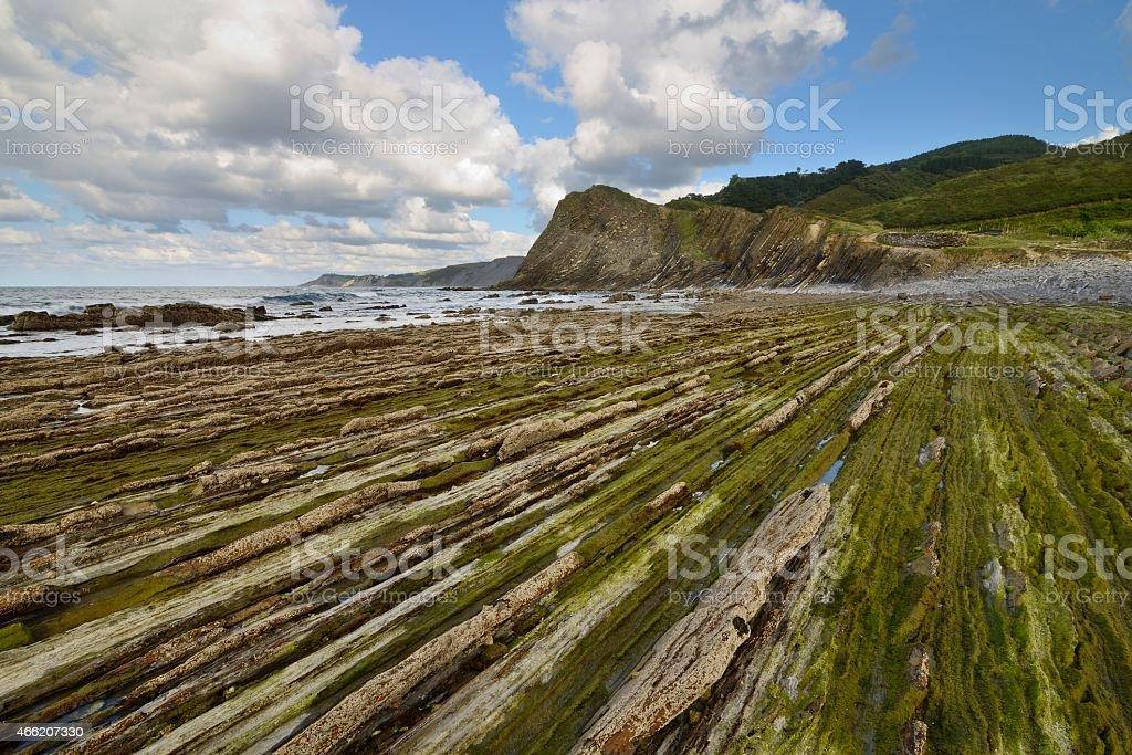 Sakoneta, Zumaia - Basque Country, Spain stock photo