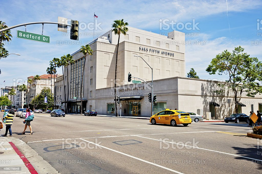 Saks Fifth Avenue in Beverly Hills, USA royalty-free stock photo