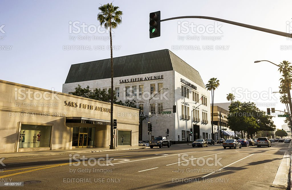 Saks Fifth Avenue in Beverly Hills, USA stock photo