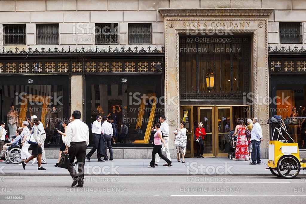 Saks Fifth Avenue Manhattan stock photo