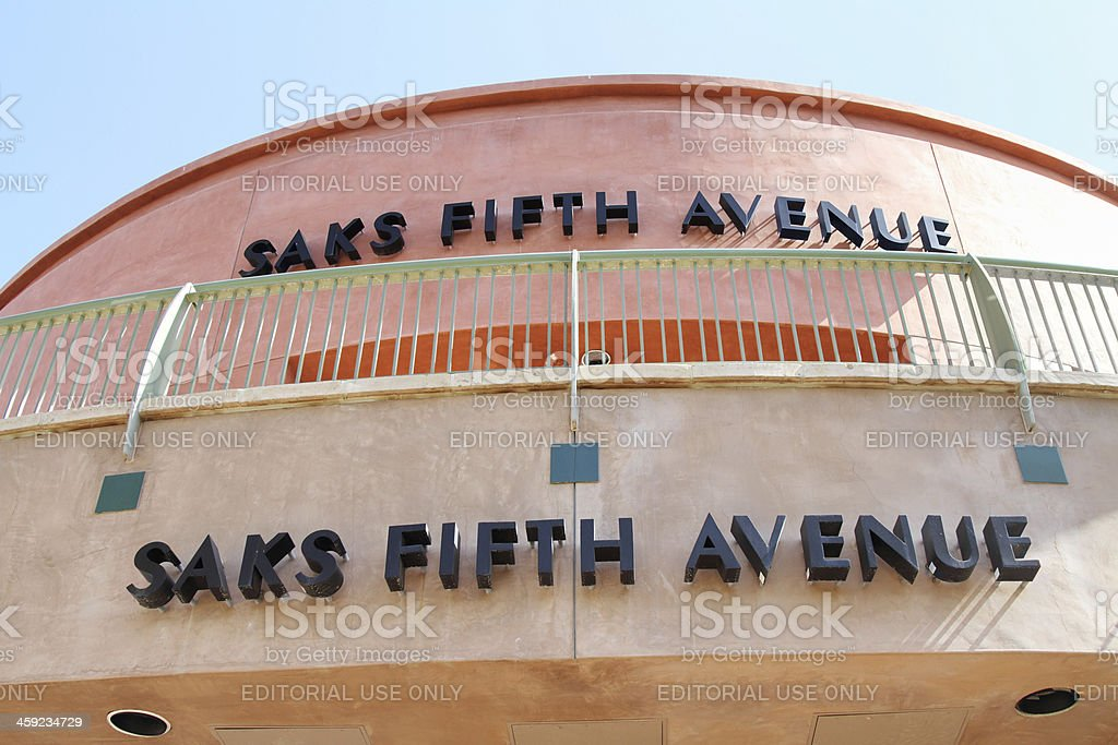 Saks Fifth Avenue store on El Paseo Drive stock photo
