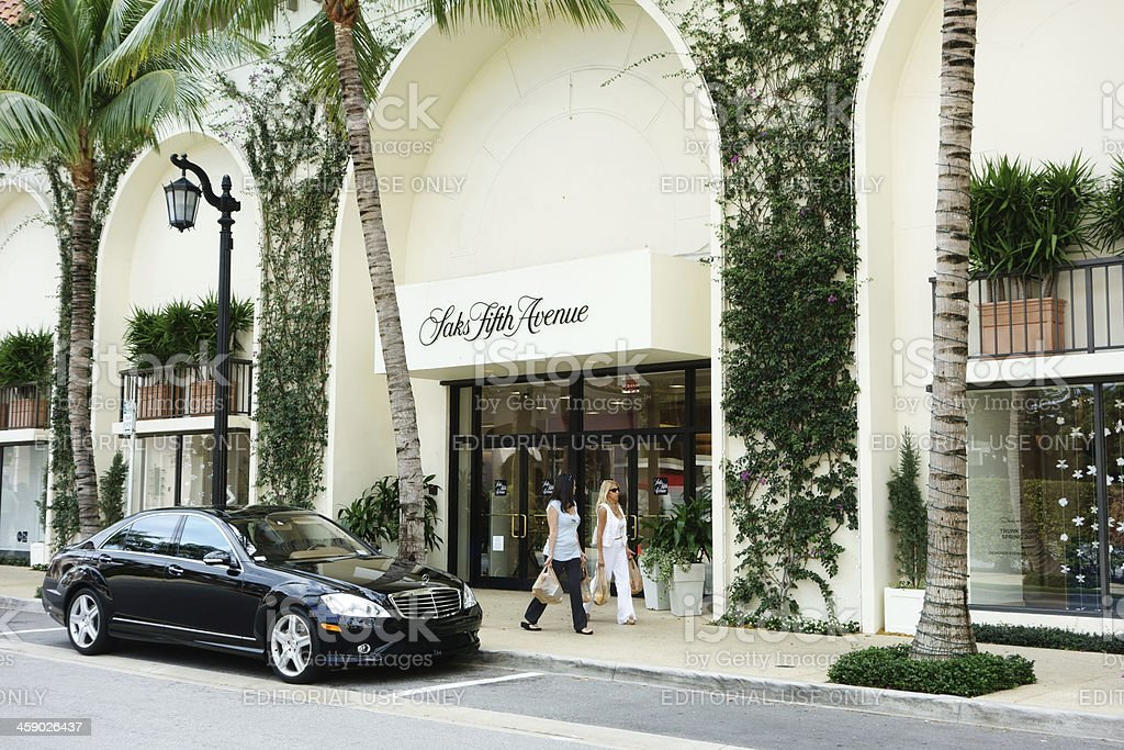 Saks Fifth Avenue store royalty-free stock photo