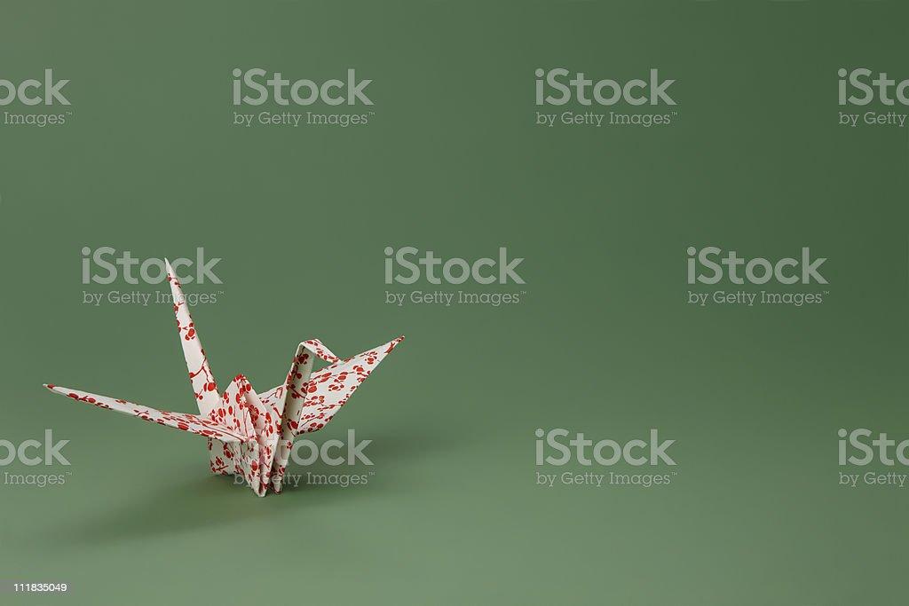 Sakura Origami Paper Crane stock photo