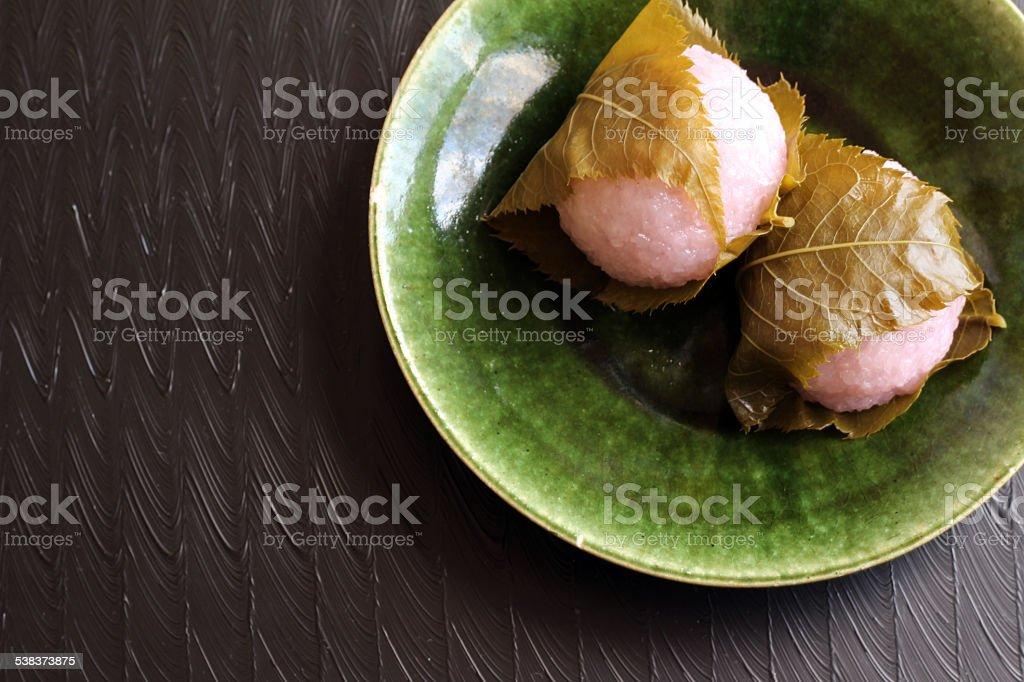 Sakuramochi stock photo