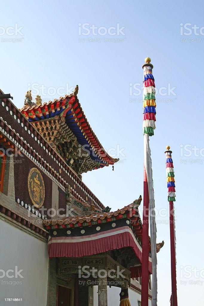 Sakyamuni Buddha Hall in Kumbum Monastery stock photo