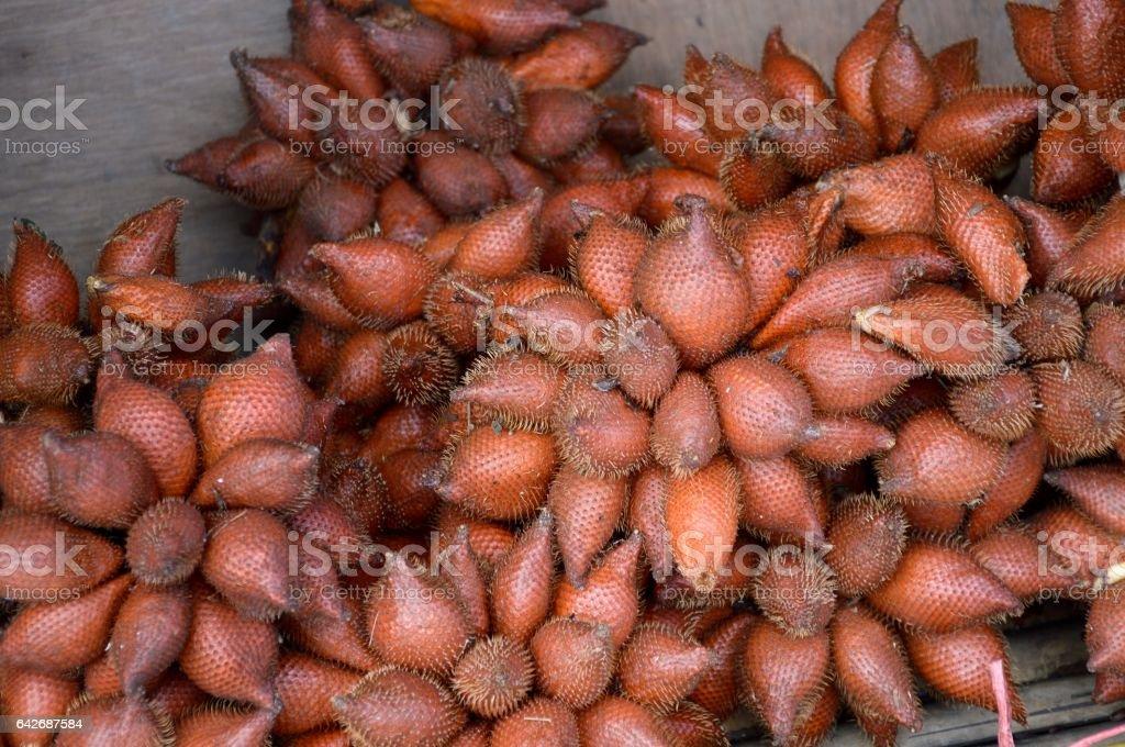 Salacca zalacca fruit stock photo