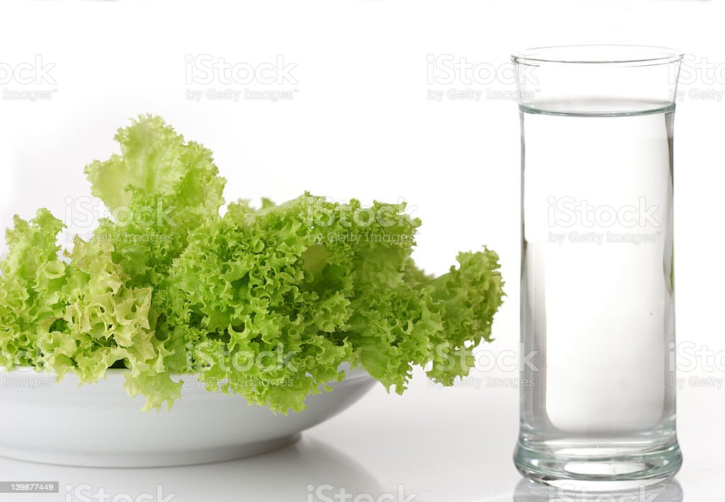 salad and water stock photo