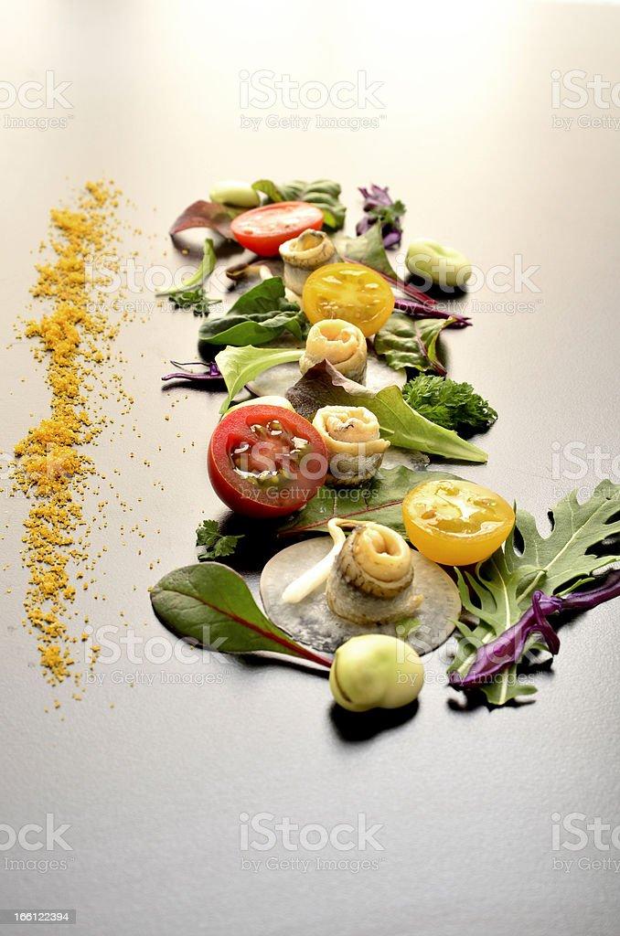 Salad art stock photo