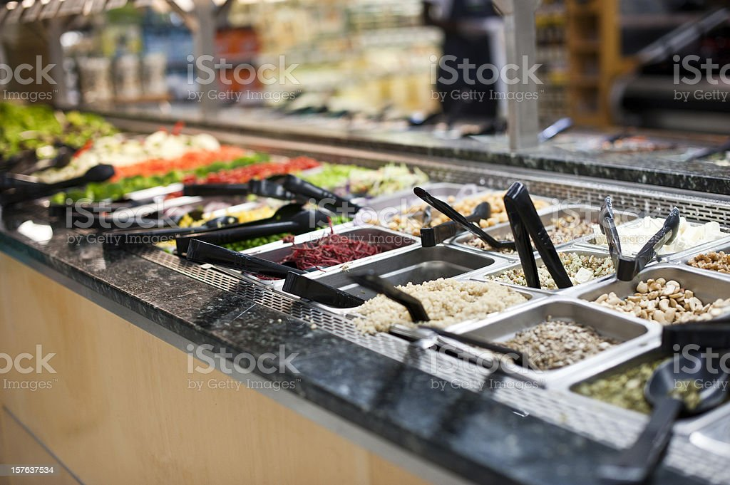 Salad Bar stock photo