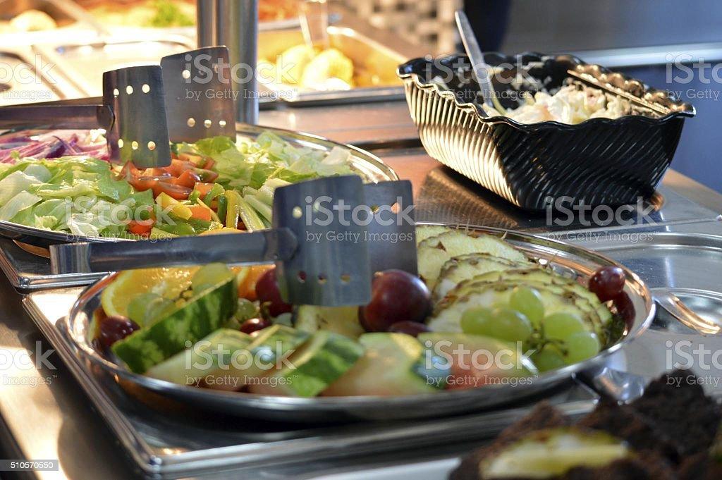 Bar à salades photo libre de droits