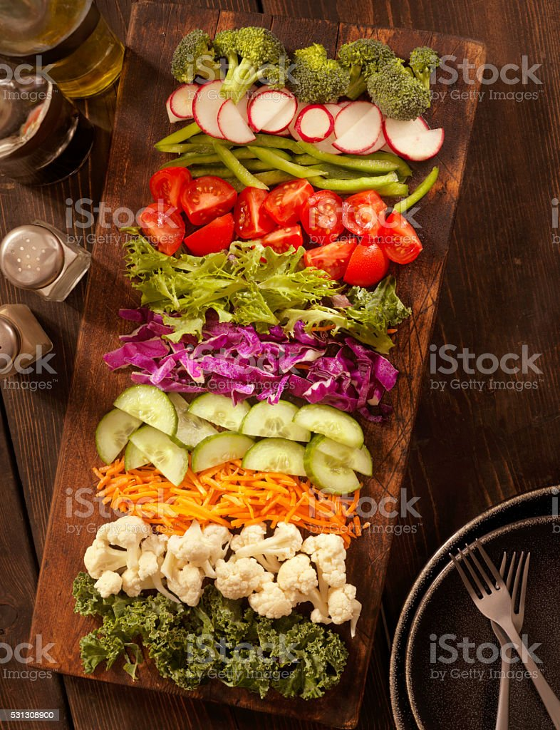 Salad Board stock photo