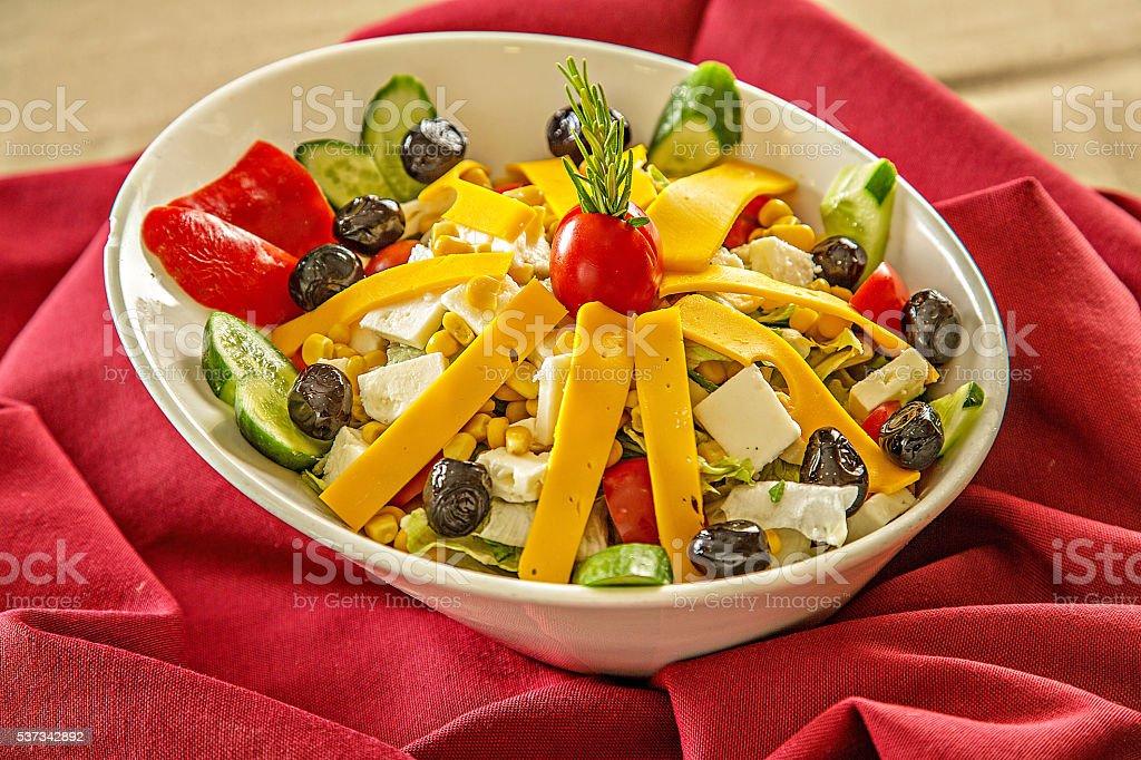 salad cheesed stock photo