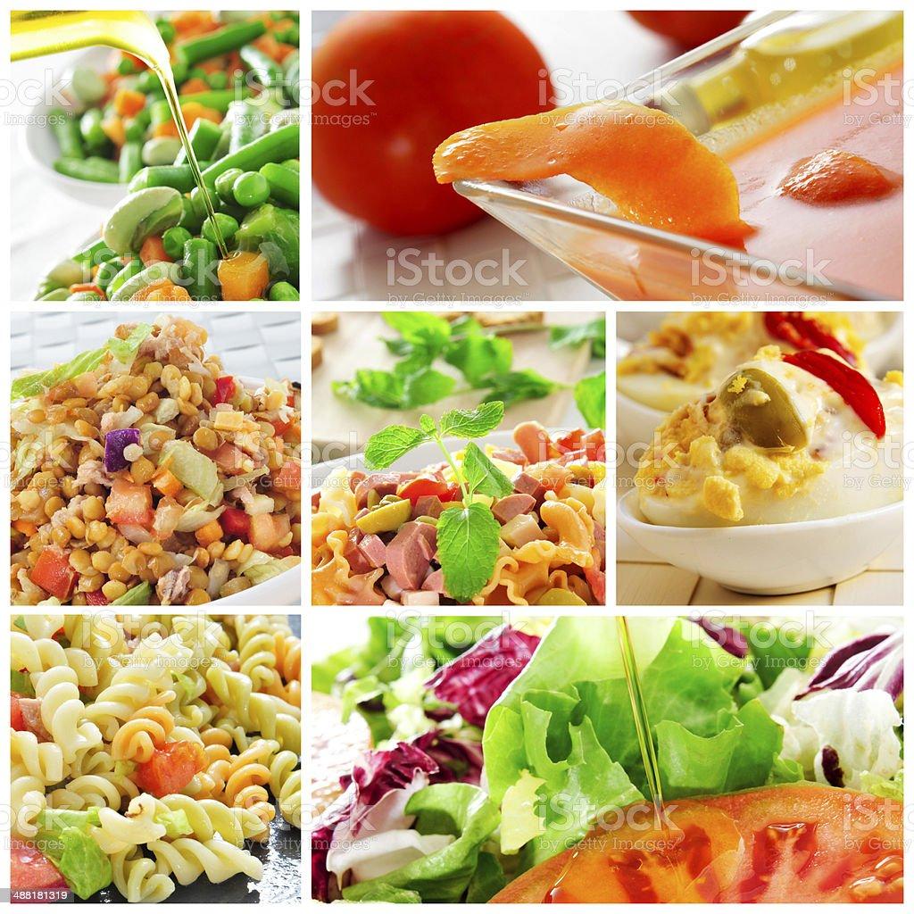 salad collage stock photo