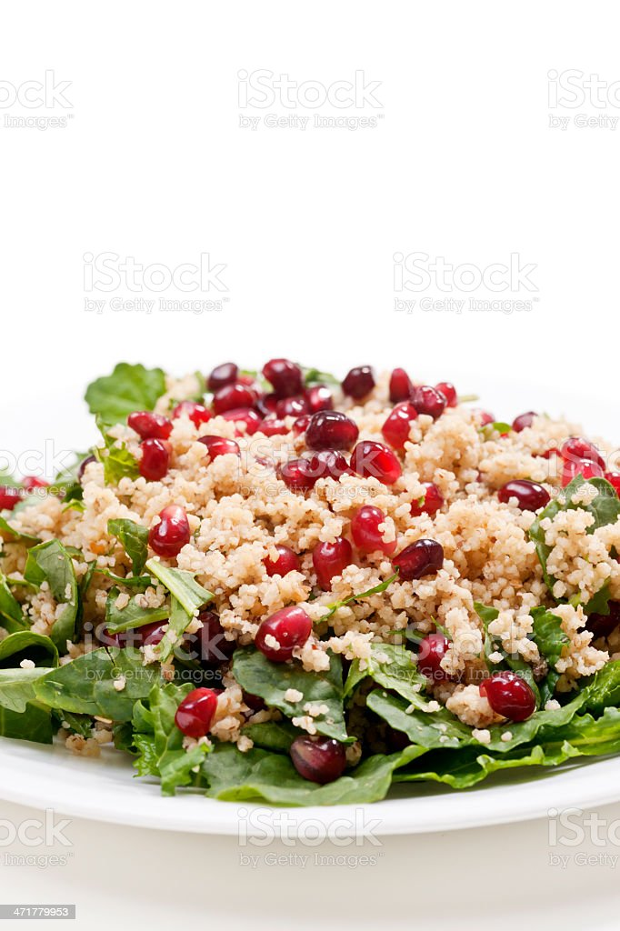Salad: Couscous and Kale royalty-free stock photo