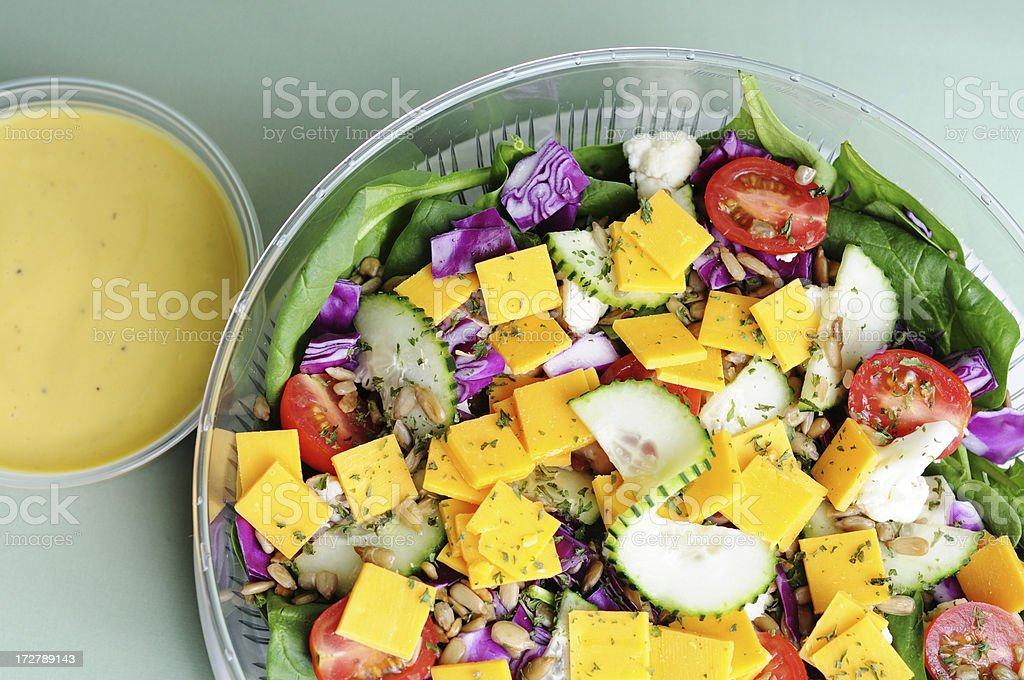 Salad & Dressing royalty-free stock photo
