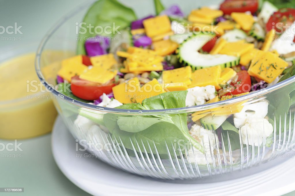 Salad & Dressing royalty-free stock photo