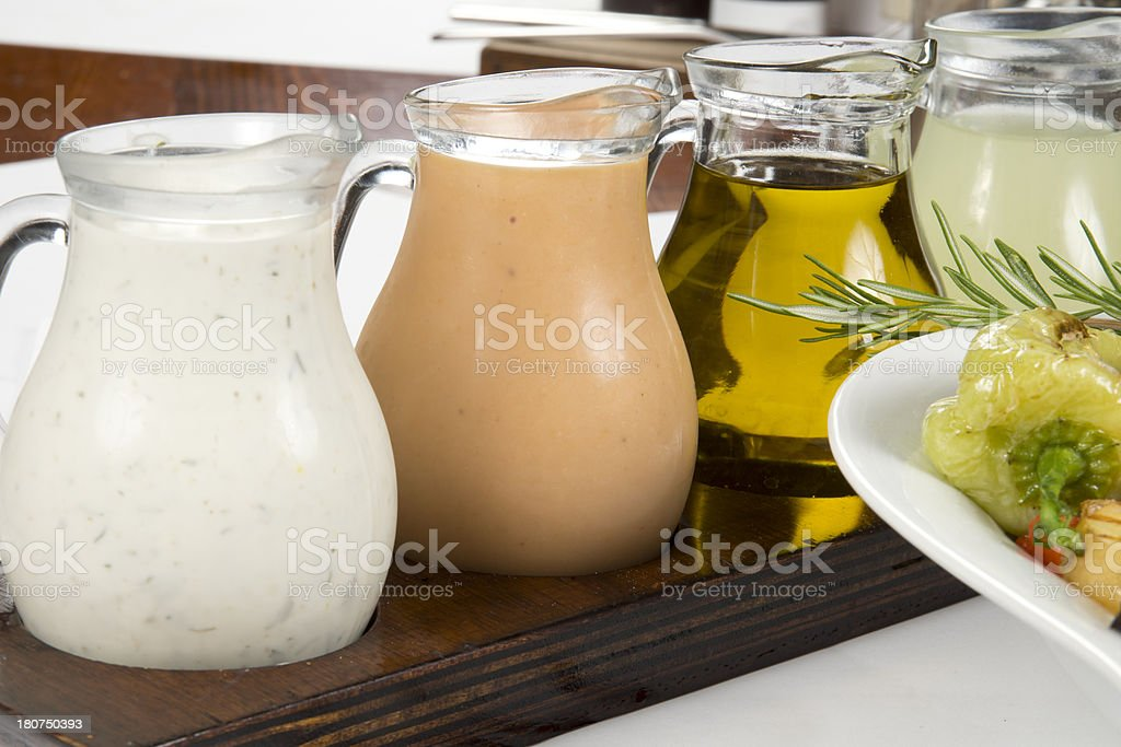 Salad Dressing royalty-free stock photo
