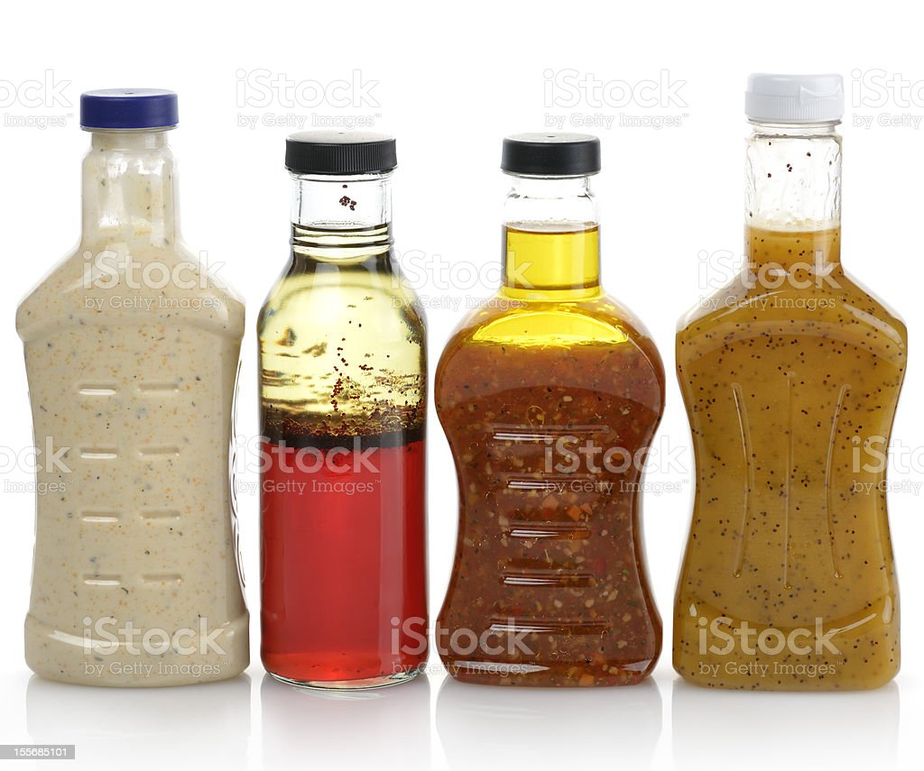 Salad Dressings stock photo