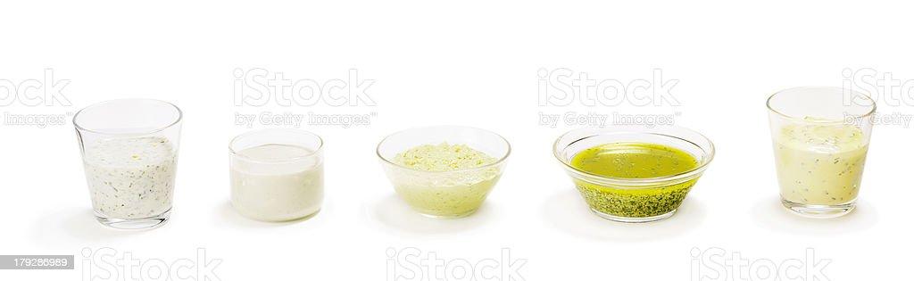 Salad Dressings royalty-free stock photo