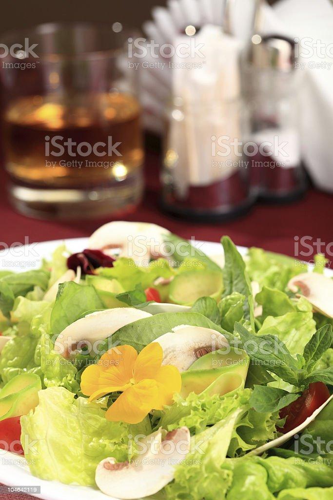 Salad  flowers royalty-free stock photo