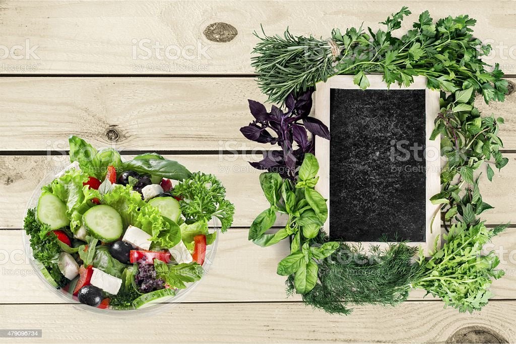 Salad, food, takeaway stock photo