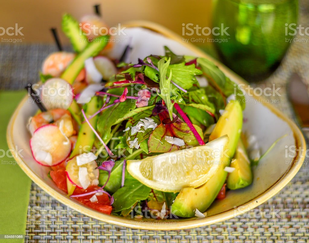 Salad from above stock photo