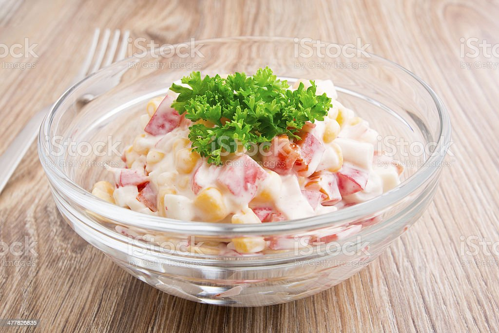 Salad in a bowl stock photo