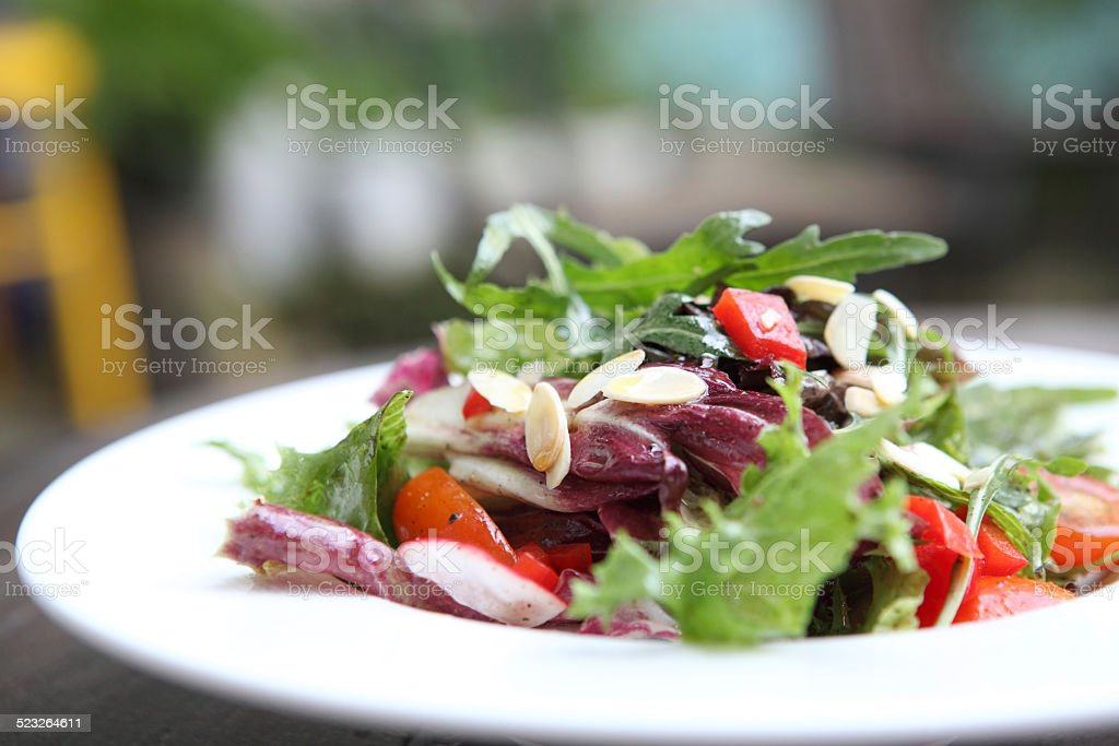 salad in close up stock photo