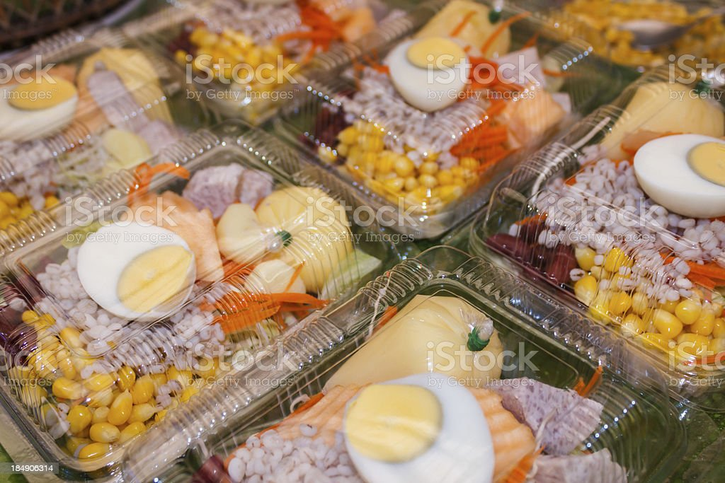 Salad in the shop royalty-free stock photo