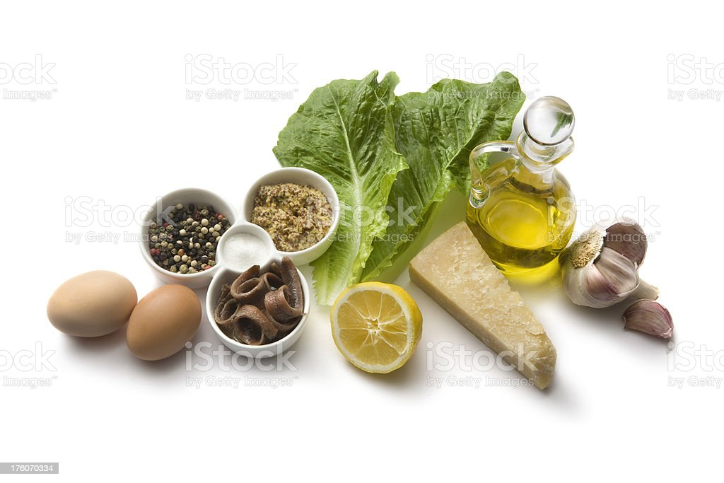 Salad Ingredients: Caesar Salad stock photo